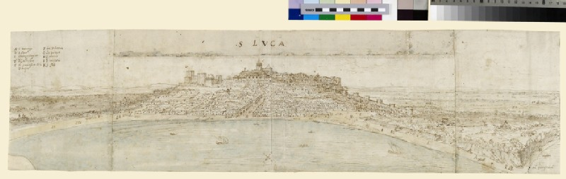 Panoramic View of St Lucar de Barrameda and adjacent countryside from the South West (WA.Suth.C.3.259.6)