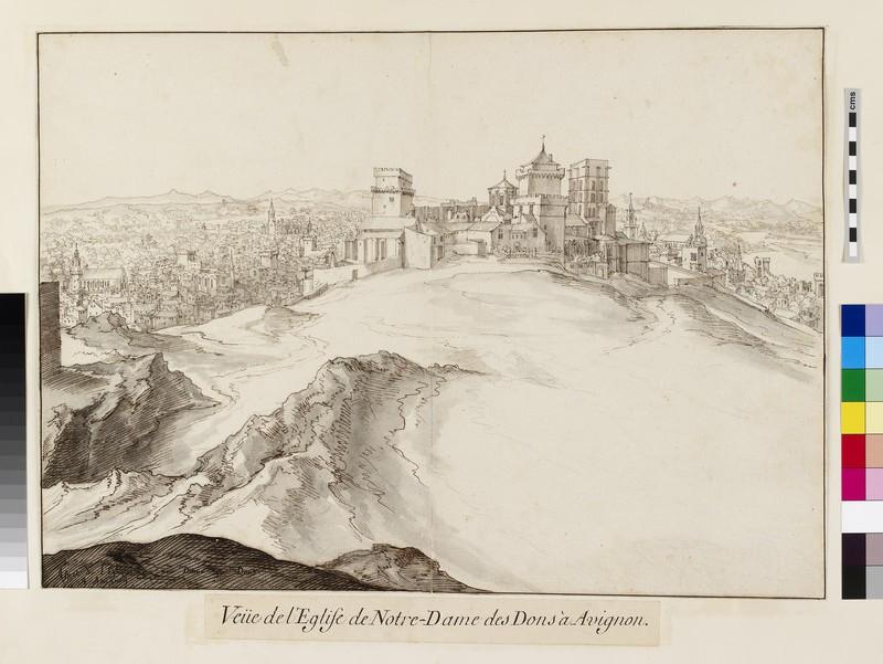 View of Notre-Dame des Dons at Avignon