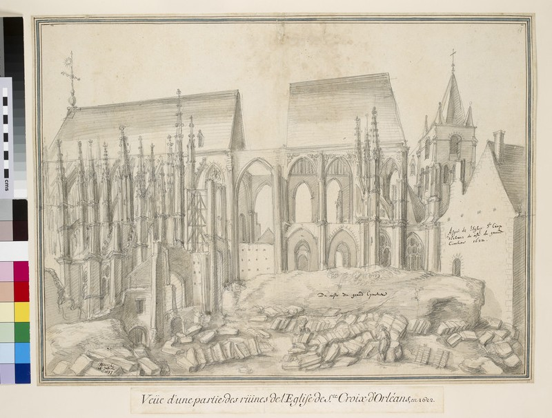 View of the Ruins of Sainte-Croix in Orléans