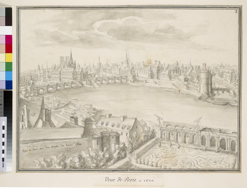 View of Paris from the Louvre, facing upstream towards the Ile Saint-Louis (WA.Suth.L.2.115)