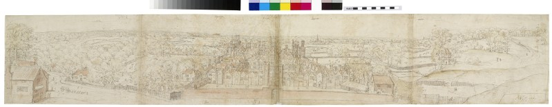 Recto: Oatlands Palace from the South