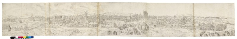 Panoramic View of Rome from the Baths of Constantine, stretching from Santa Maria Maggiore to the Baths of Diocletian