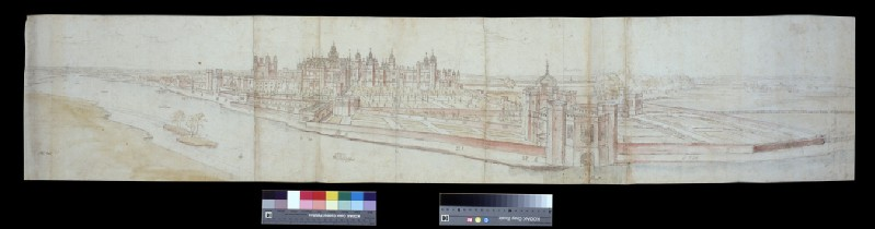 View of Hampton Court Palace from the South, with the River in the Foreground (WA.Suth.L.4.9.2)
