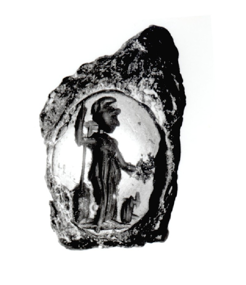 Intaglio gem, Athena (AN1872.575, record shot)