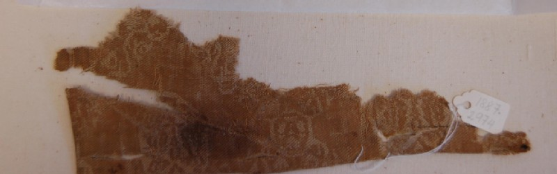 Piece of a draw-loom silk (AN1887.2974, record shot)