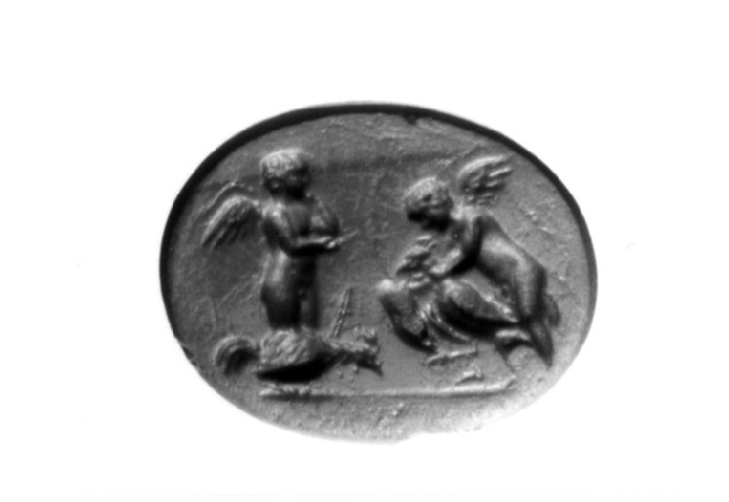 Intaglio gem, Erotes (AN1888.476, record shot)