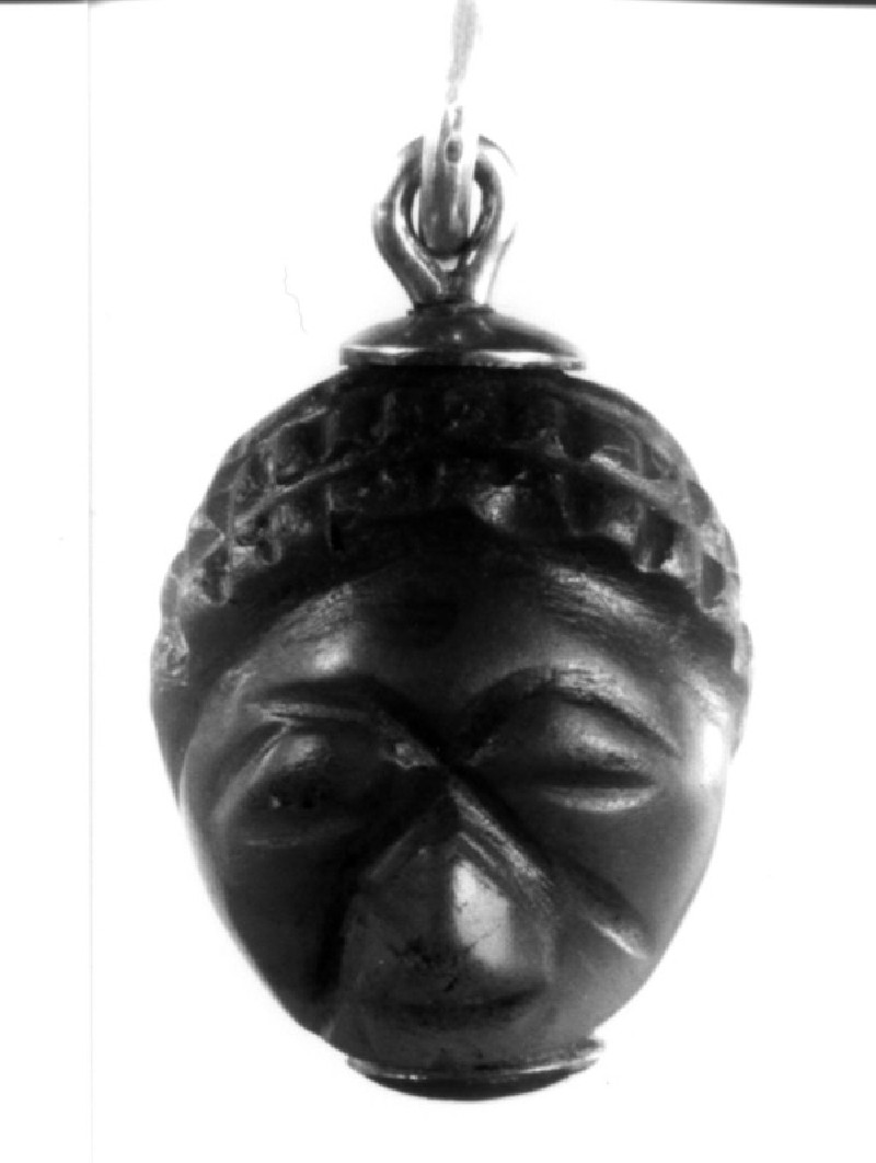 Pendant, Isis and African male head