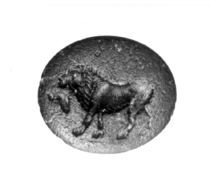 Intaglio gem, lion (AN1890.289, record shot)
