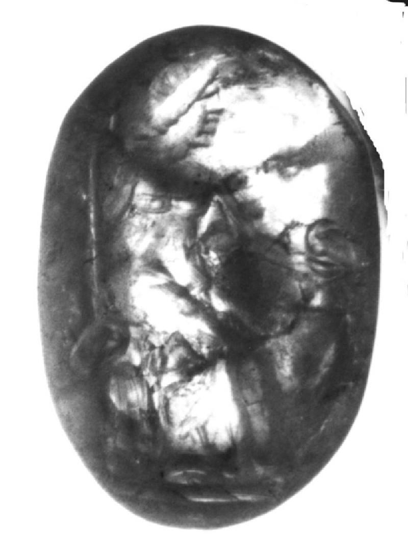 Intaglio gem, Hermes (AN1892.1291, record shot)