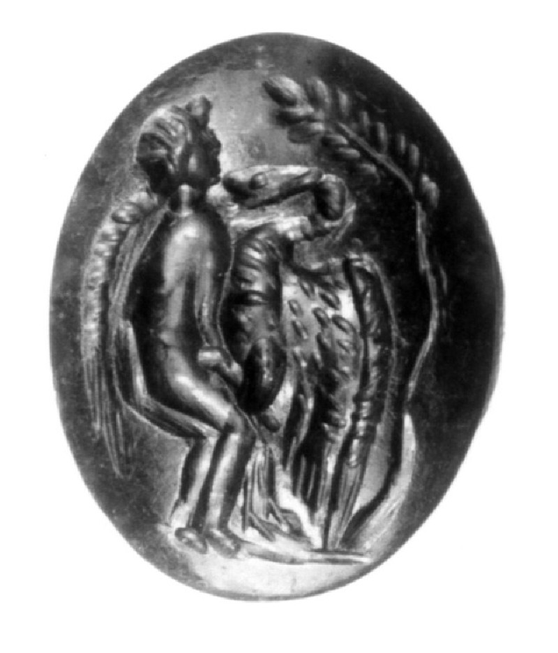 Intaglio gem, Leda and the swan (AN1892.1293, record shot)