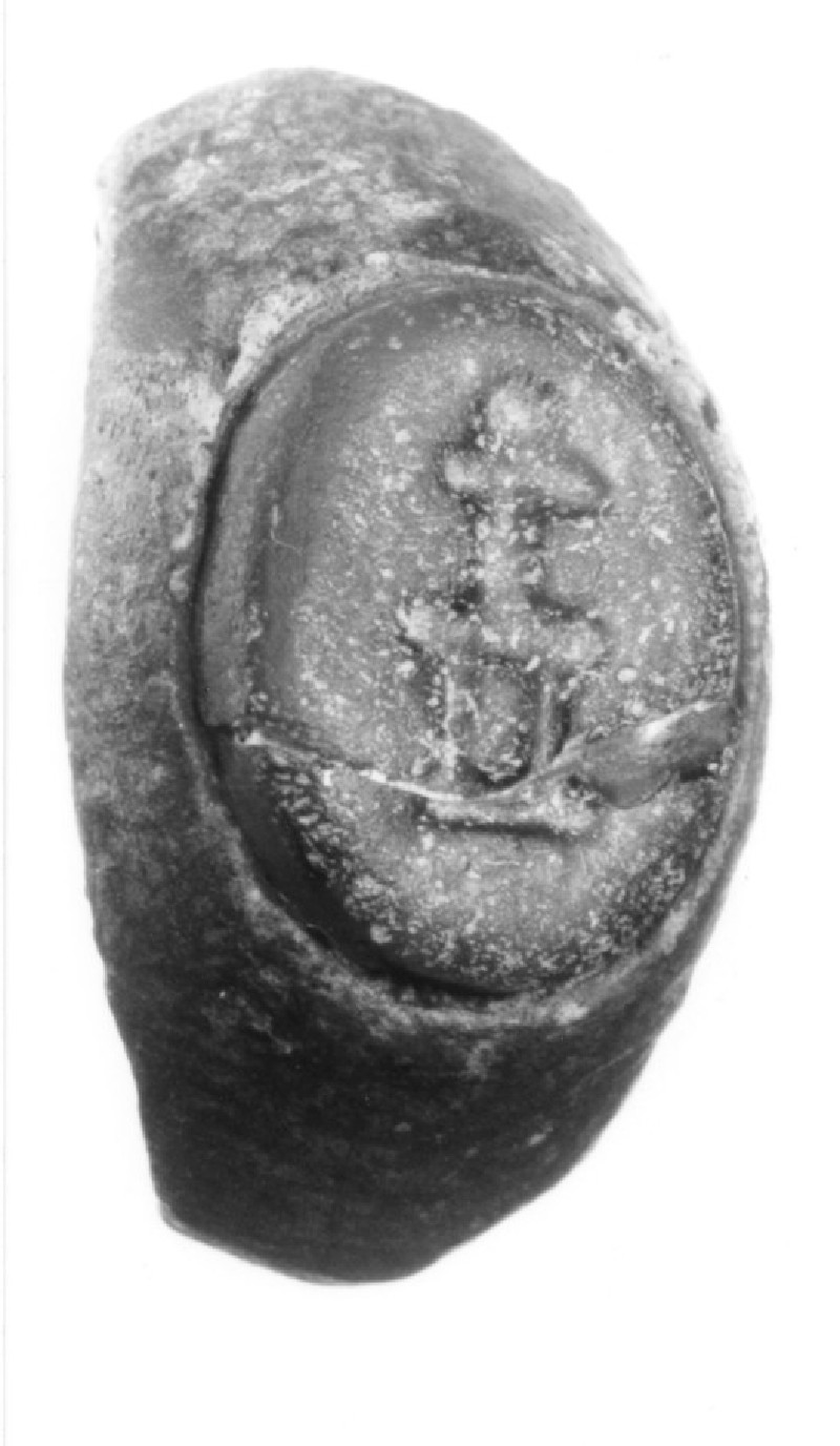 Intaglio gem, standing figure