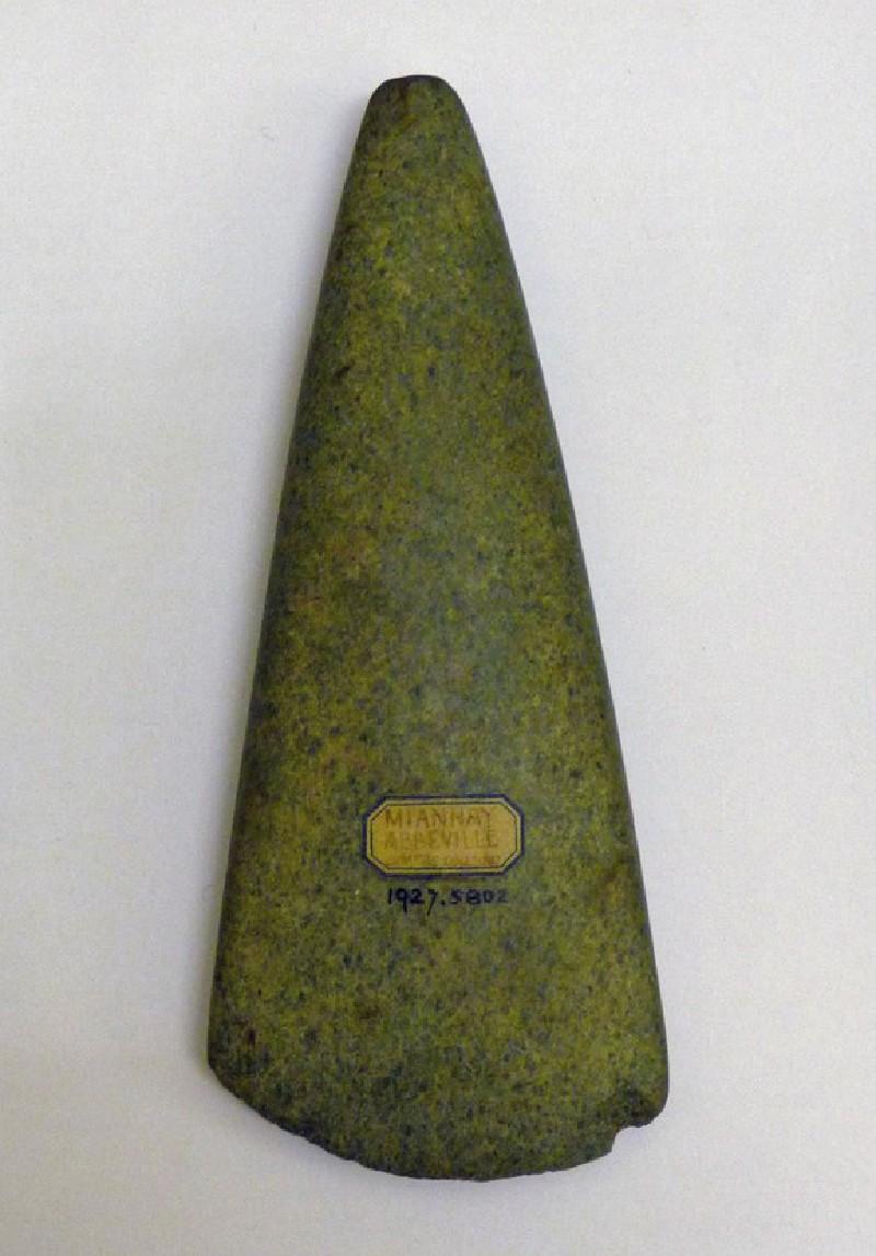 Jadeite axe (AN1927.5802, record shot)