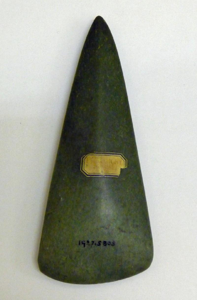 Jadeite axe (AN1927.5805, record shot)