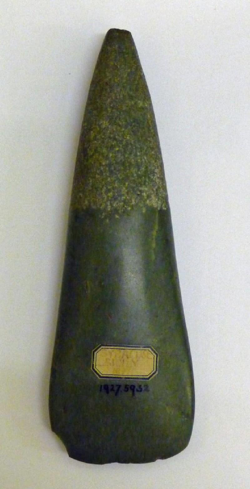 Jadeite axe (AN1927.5932, record shot)
