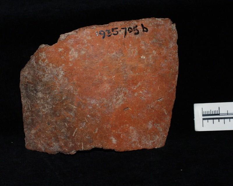 Red coare ware potsherd