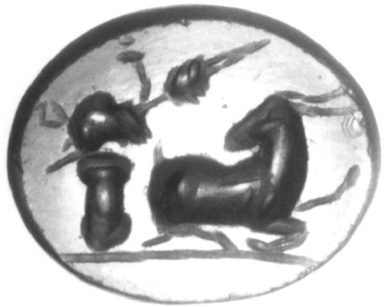 Intaglio gem, goat (AN1941.328, record shot)