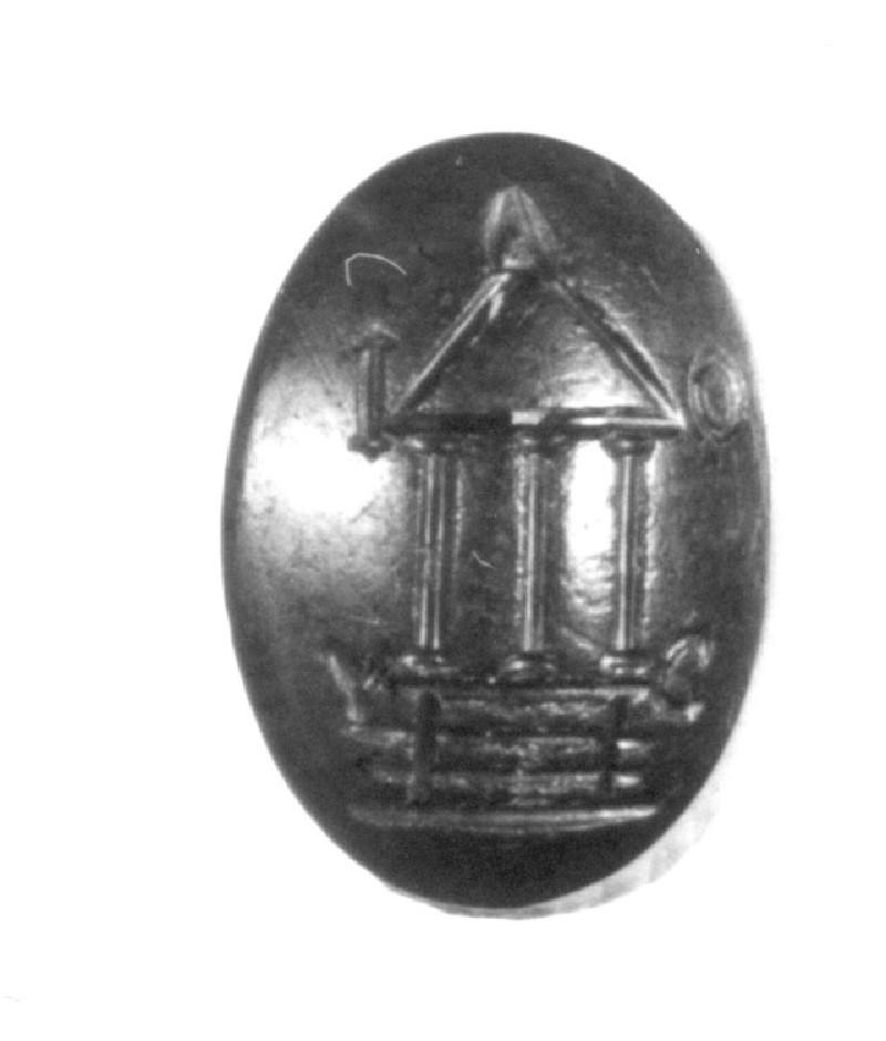 Intaglio gem, temple (AN1941.350, record shot)