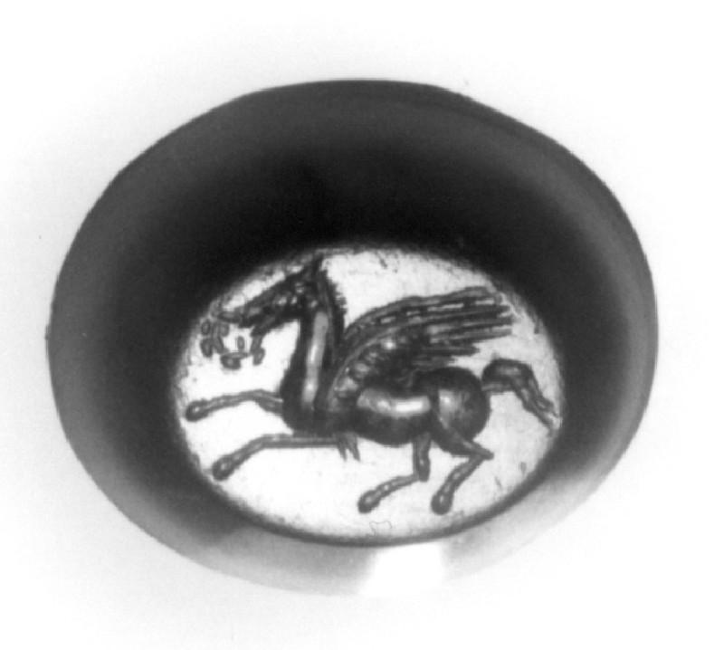 Intaglio gem, Pegasus (AN1941.356, record shot)
