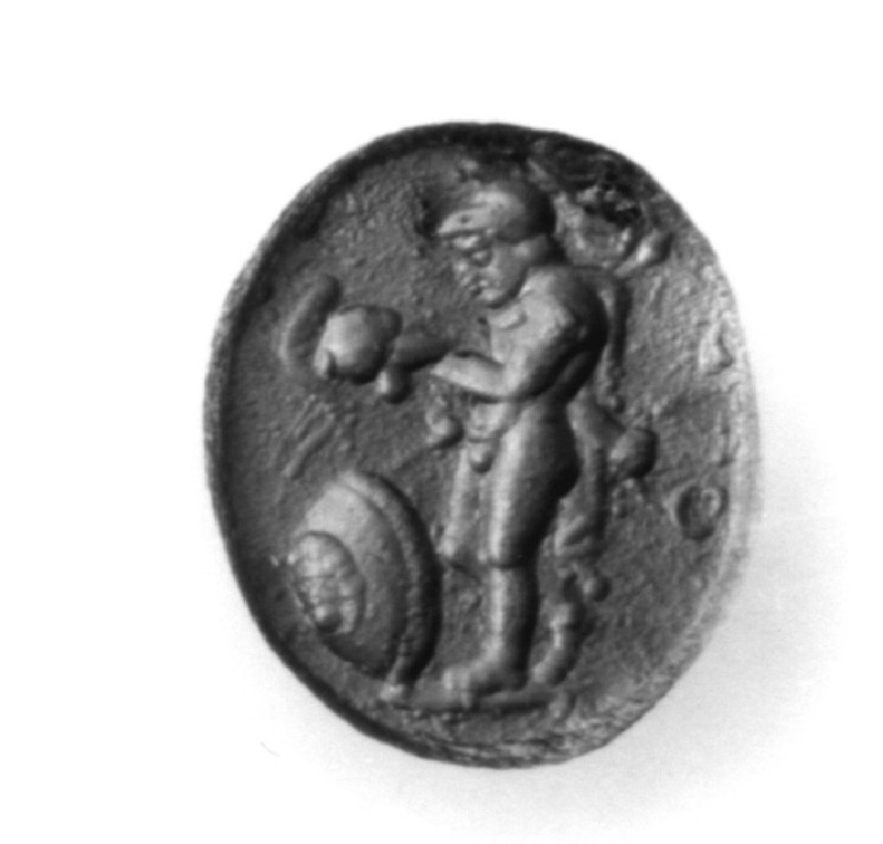 Intaglio gem, Achilles (AN1941.370, record shot)