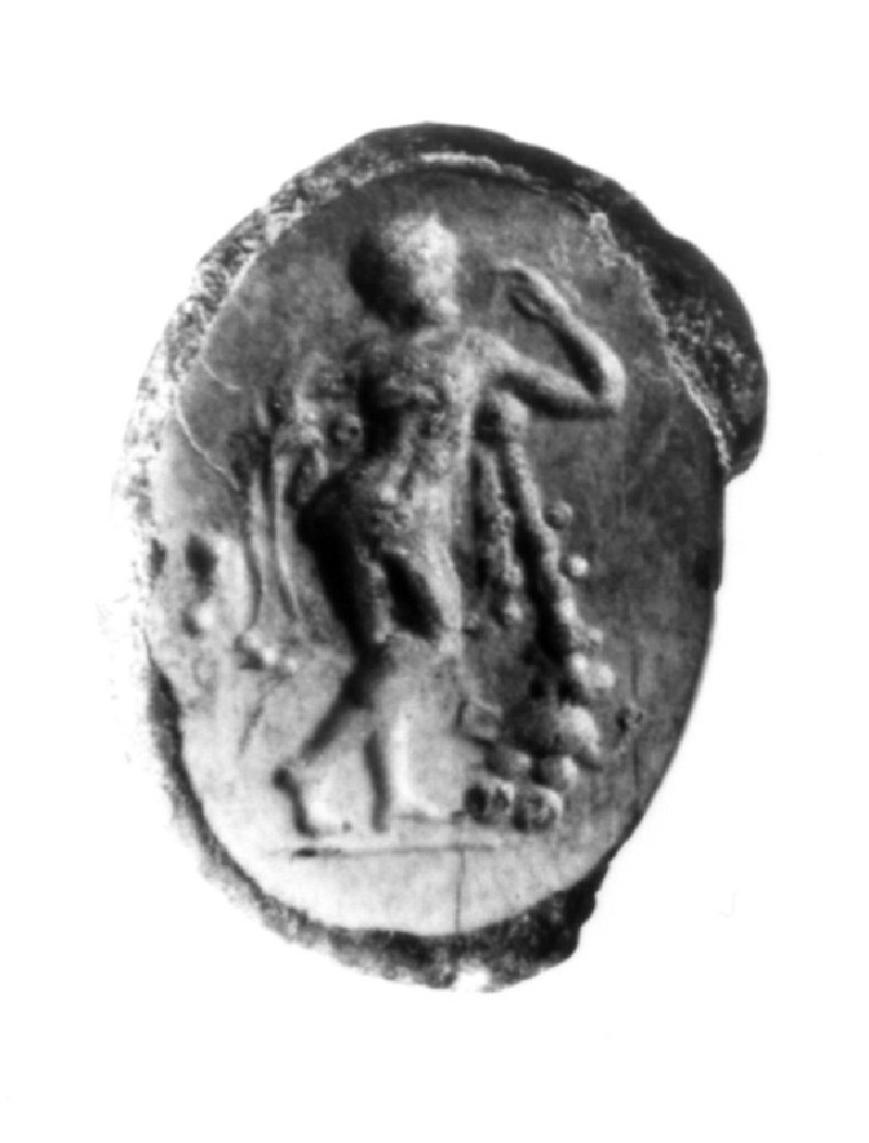 Intaglio gem finger-ring, Herakles (AN1941.390, record shot)