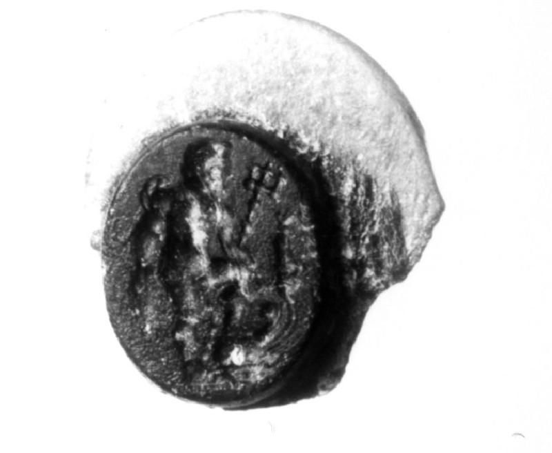 Intaglio gem, Poseidon (AN1941.455, record shot)