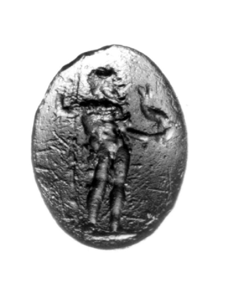 Intaglio gem, Poseidon (AN1941.469, record shot)