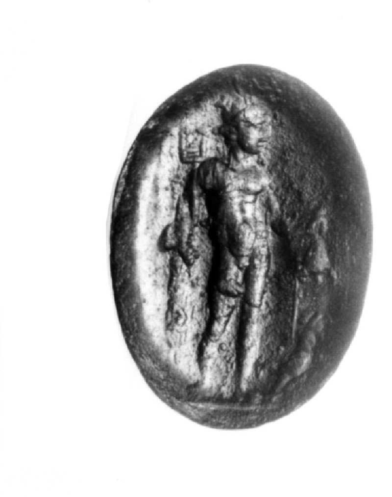 Intaglio gem, Hermes (AN1941.474, record shot)