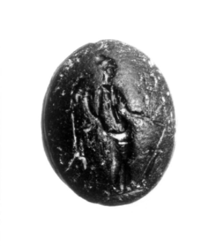 Intaglio gem, Tyche (AN1941.517, record shot)