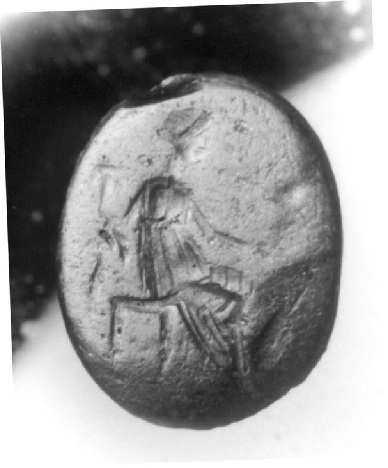 Intaglio gem, Tyche (AN1941.519, record shot)