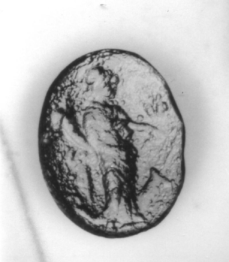 Intaglio gem, Tyche (AN1941.520, record shot)
