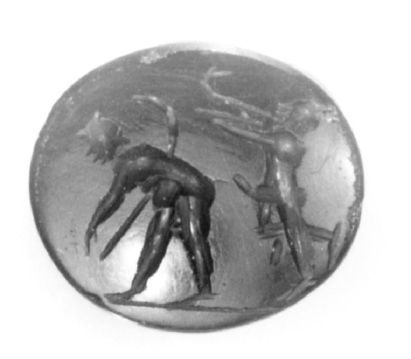 Intaglio gem, satyr (AN1941.534, record shot)