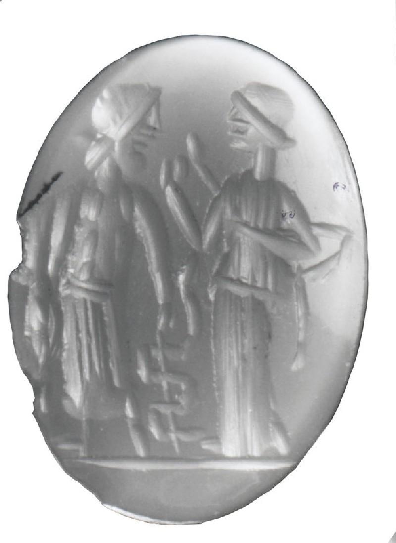 Intaglio gem, Asklepios and Hygieia