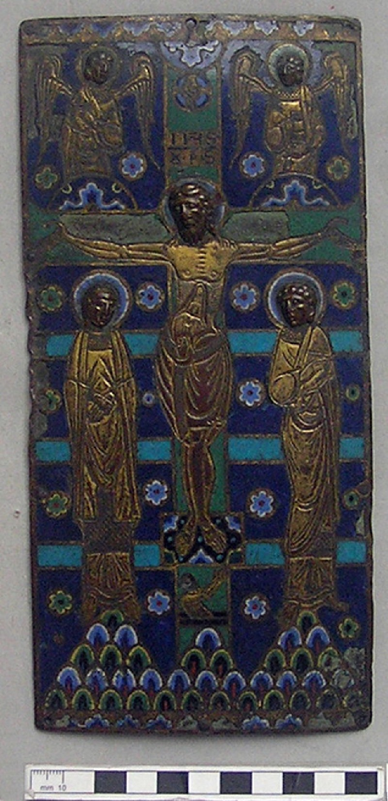 Limoges plaque or book cover with depiction of The Crucifixion