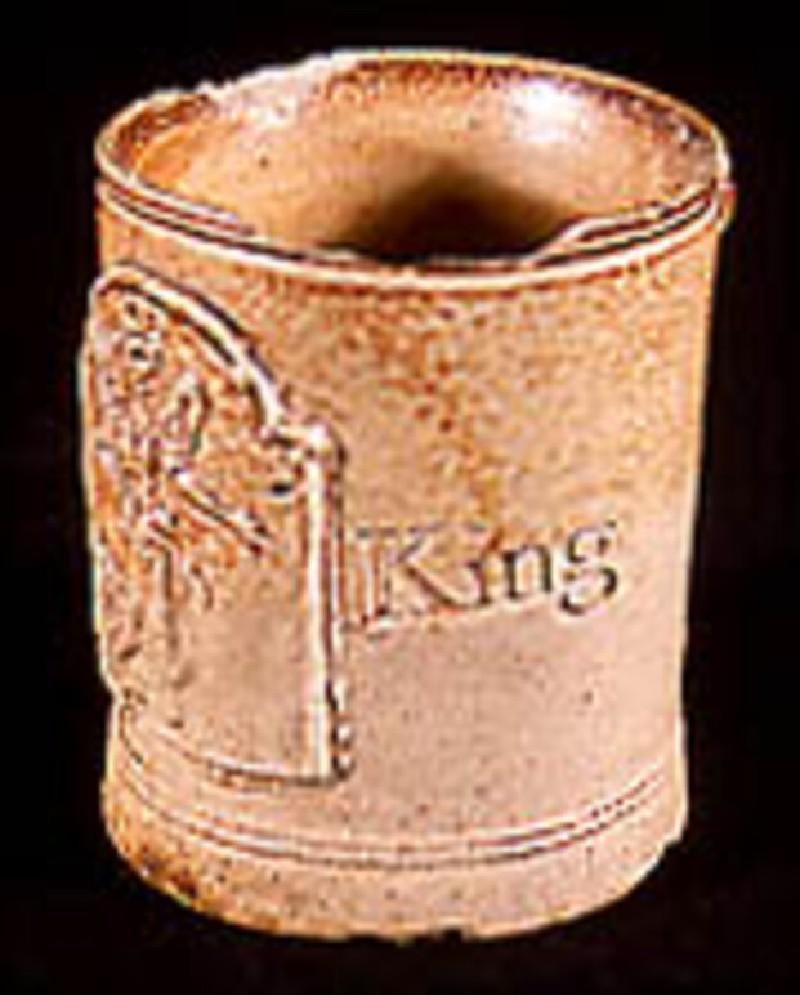 Mug. English stoneware, London Fulham type (AN1883.74, record shot)