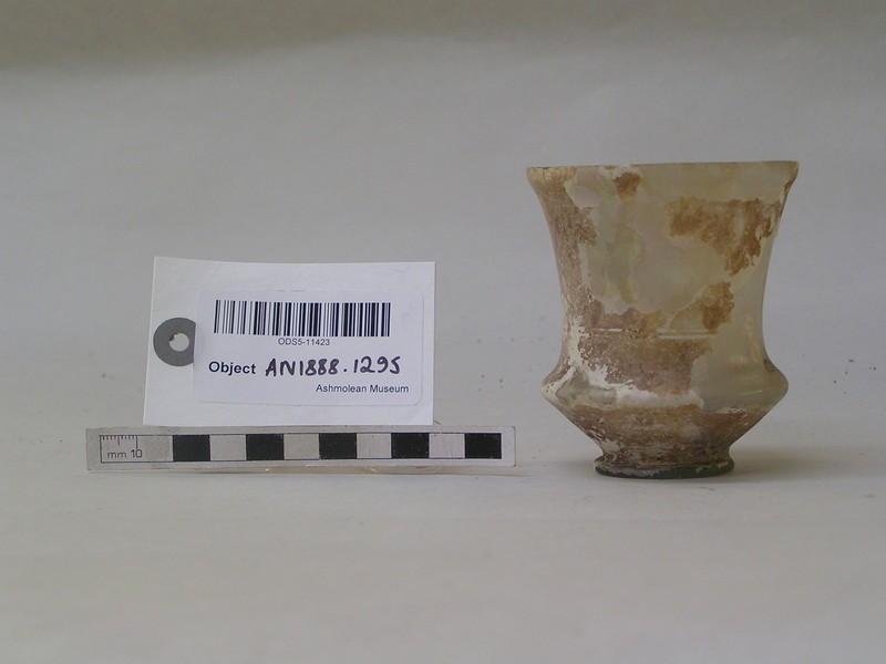 Pale green glass beaker