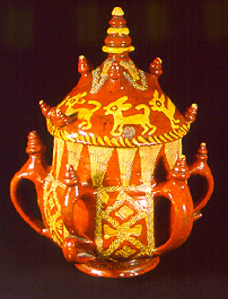 Posset pot and lid