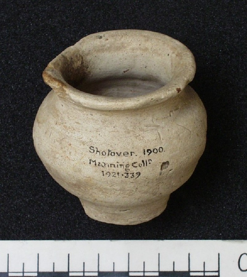 Small greyware pot