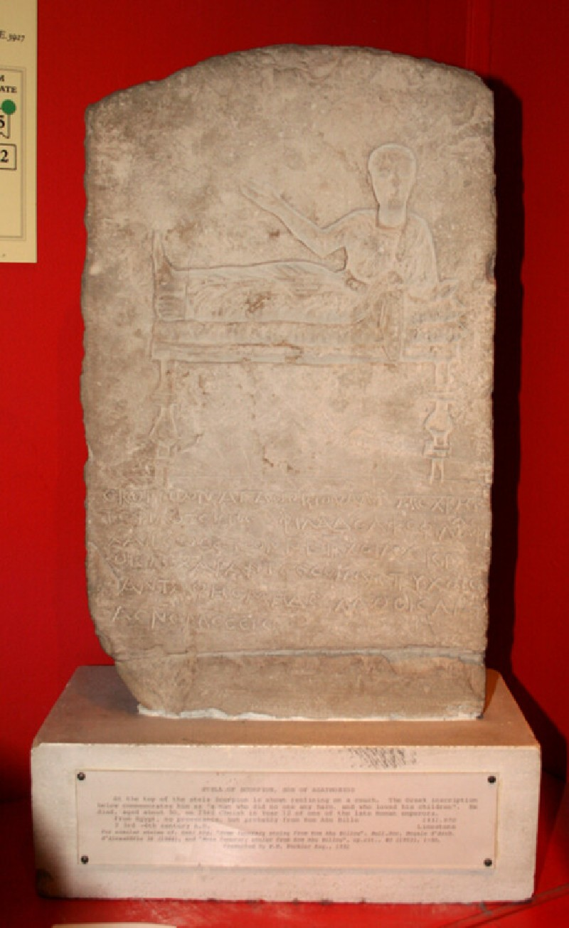 Stela of Scorpion, son of Agathobios