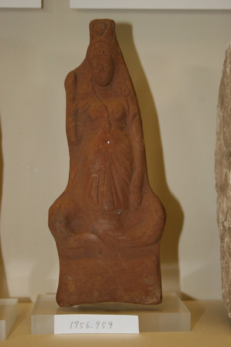 Figurine of the goddess Isis with the attributes of Thermuthis, cobra goddess of the harvest