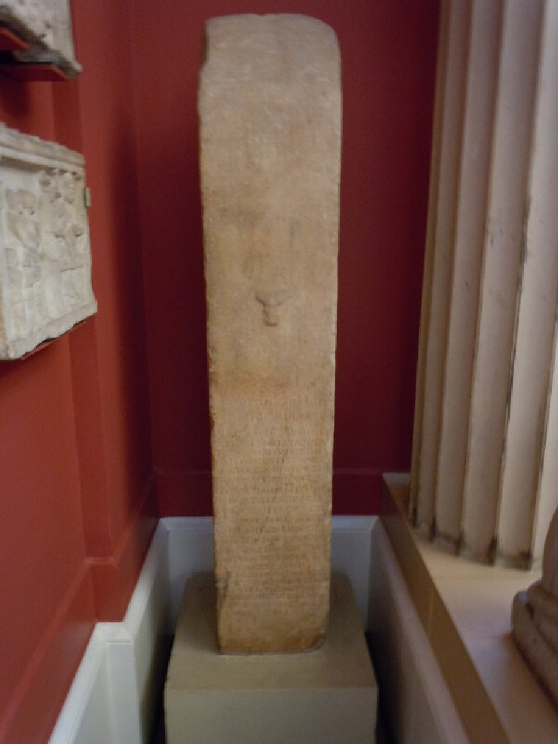 Terminal figure or herm with inscription to Polydeukion (ANMichaelis.177, record shot)
