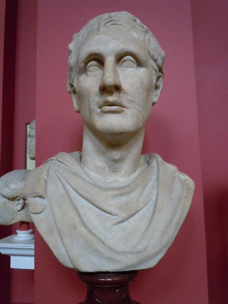 Statue head of Menander