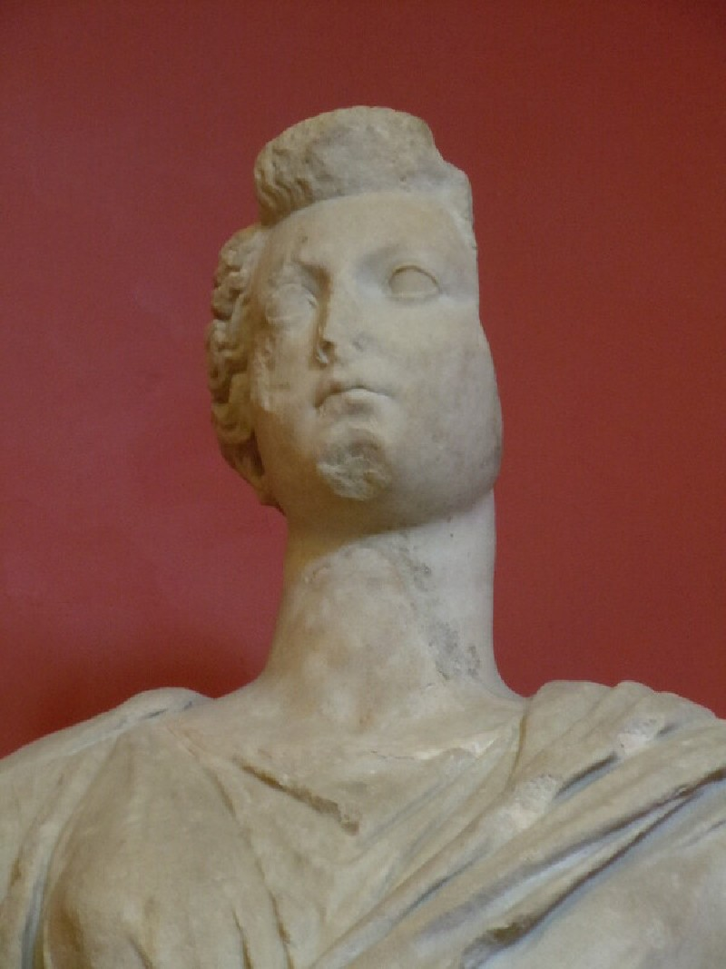 Roman female head of statue