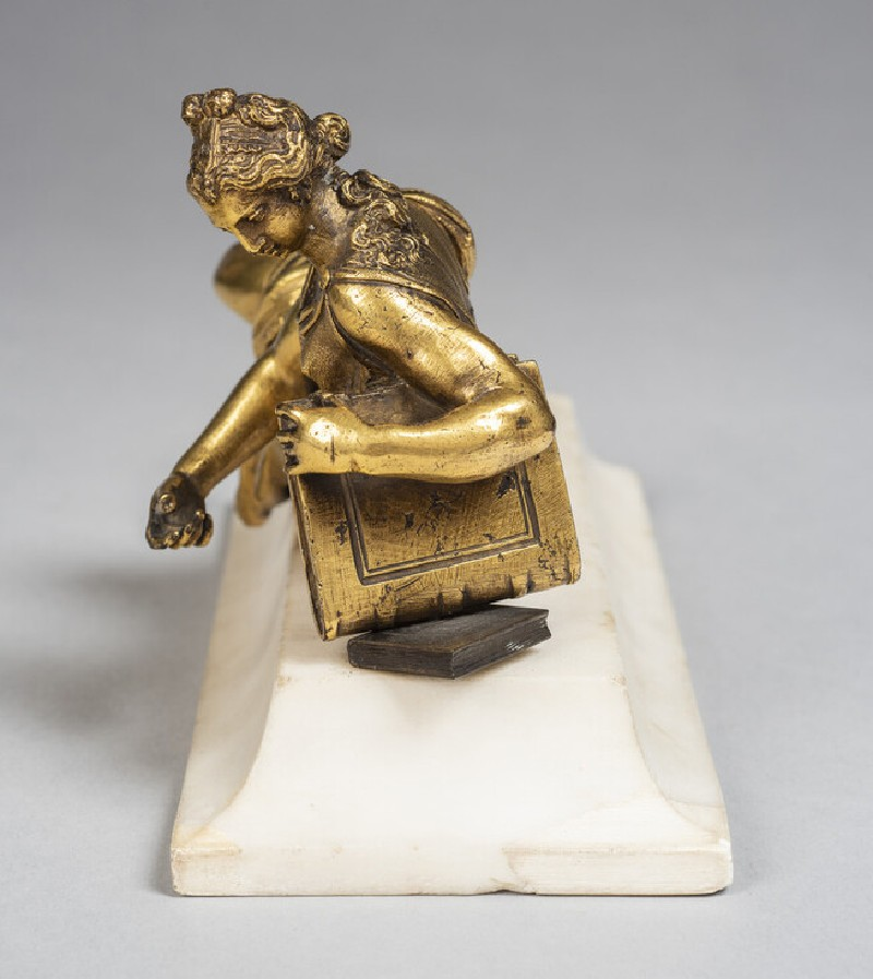 Reclining female figure, probably Faith