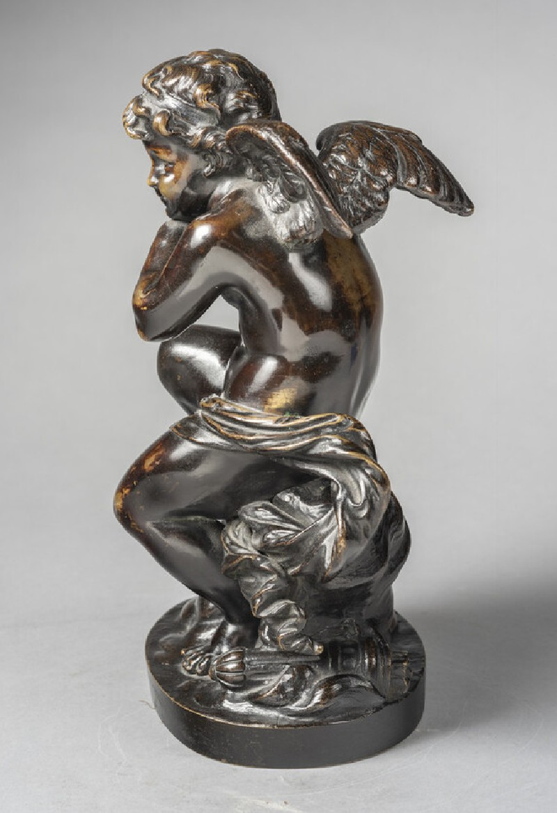 Cupid leaning on his bow