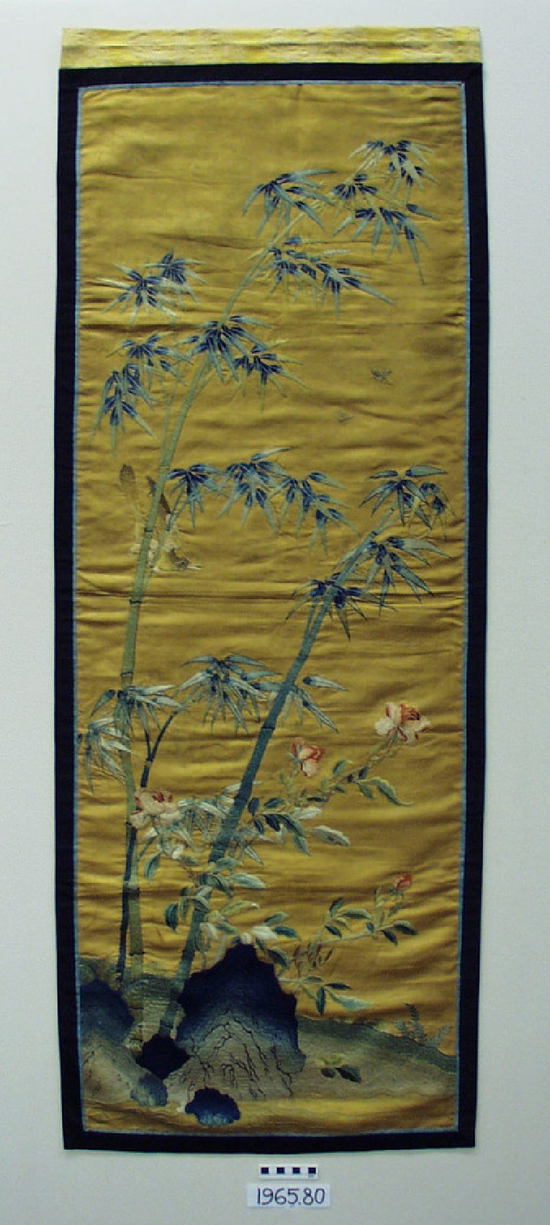 Embroidered furnishing panel