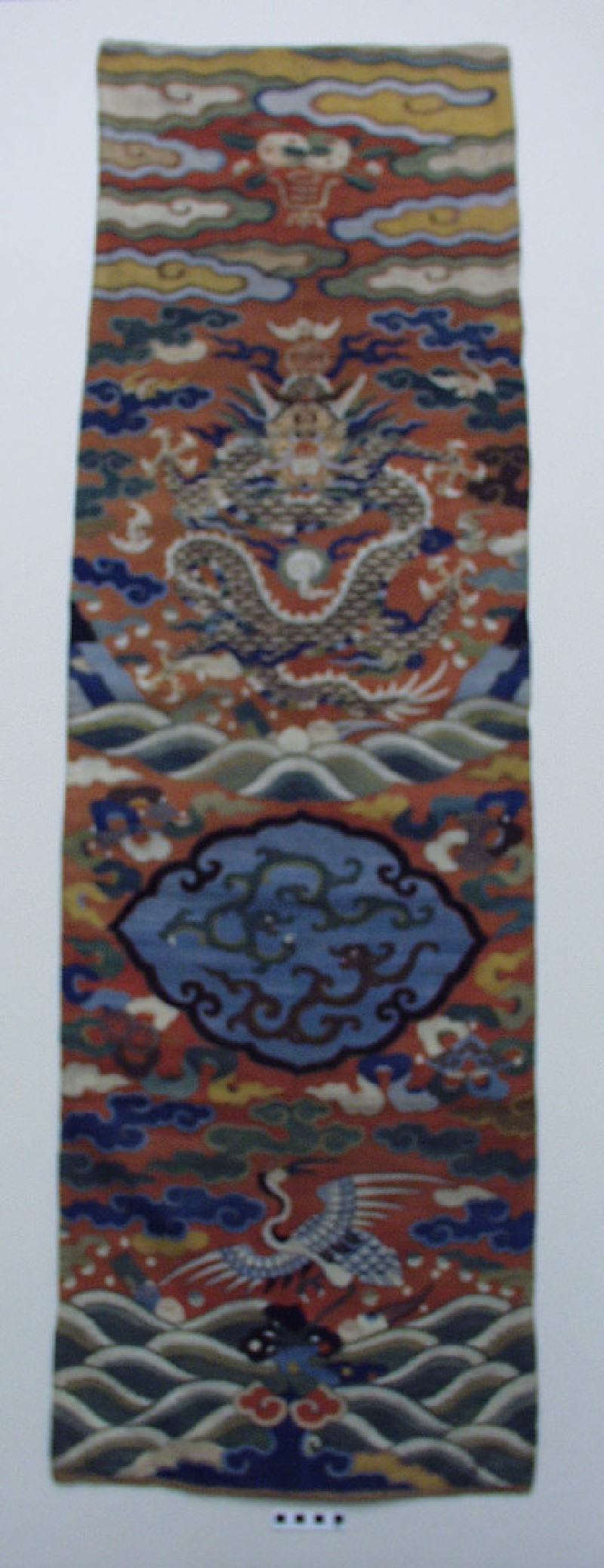 Kesi (k'o-ssu) tapestry chair panels (EA1965.94, DS, record shot)
