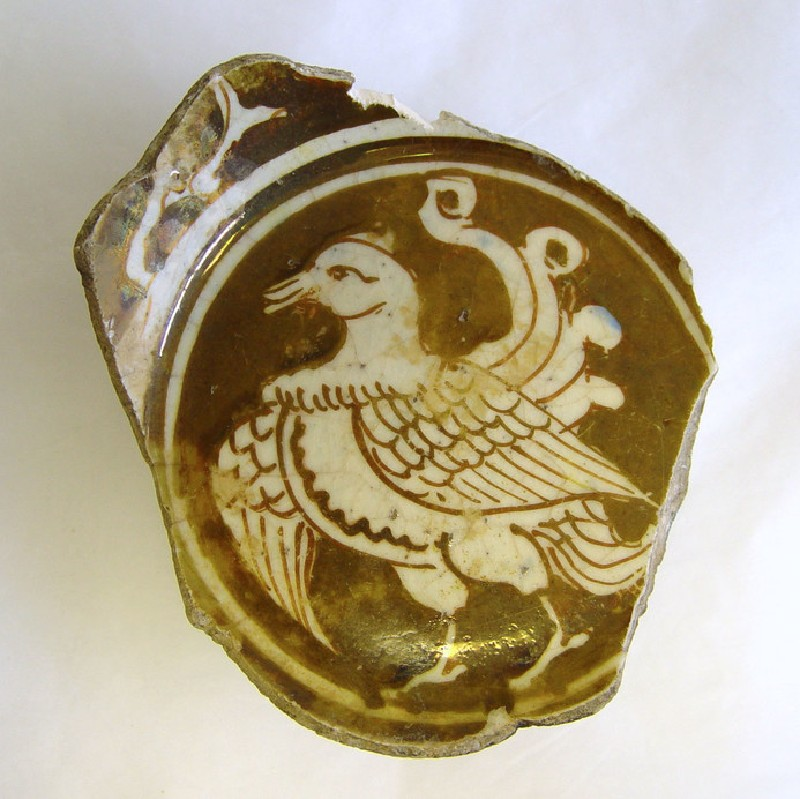 Bowl base with rooster