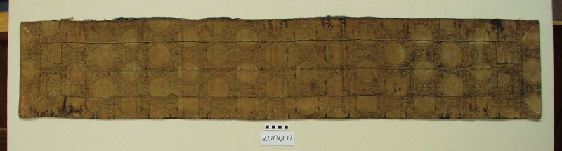 Priest's shawl (ohi, shoulder piece) with 16-petalled chrysanthemum design (mon) (EA2000.17, DS, record shot)