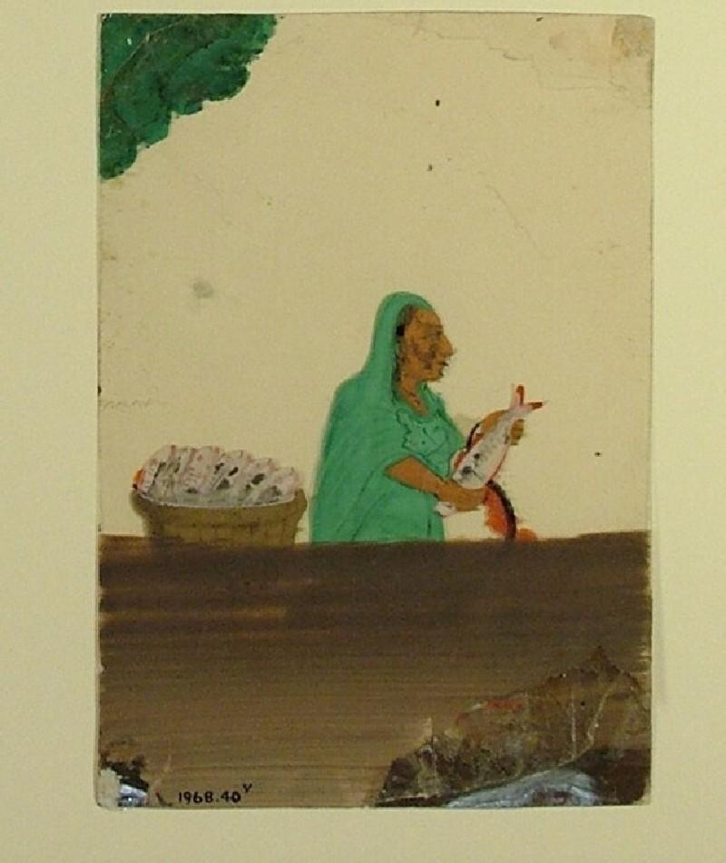 Portrait of a fishmonger (EA1968.40.v, record shot)