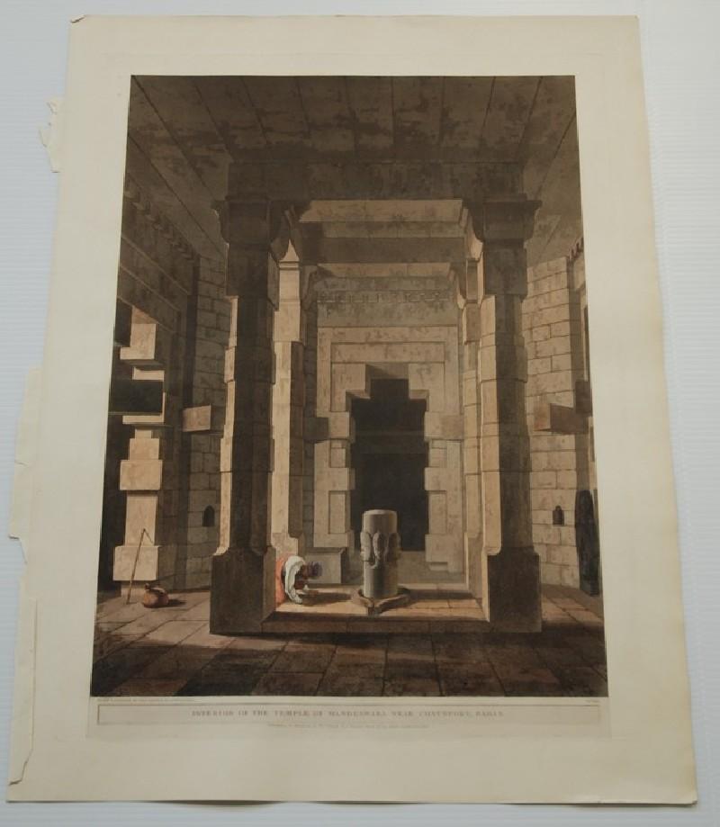 Interior of the temple of Madeswara near Chaynpore, Bahar